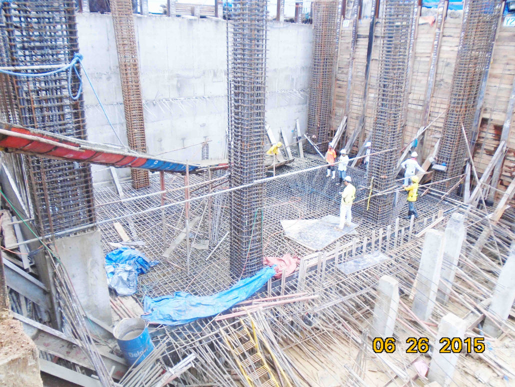 3) pouring of mat footing | The MIDPOINT Residences