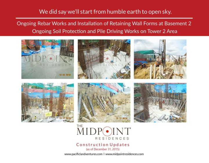 MIDPOINT Construction Update (as of December 31, 2015)